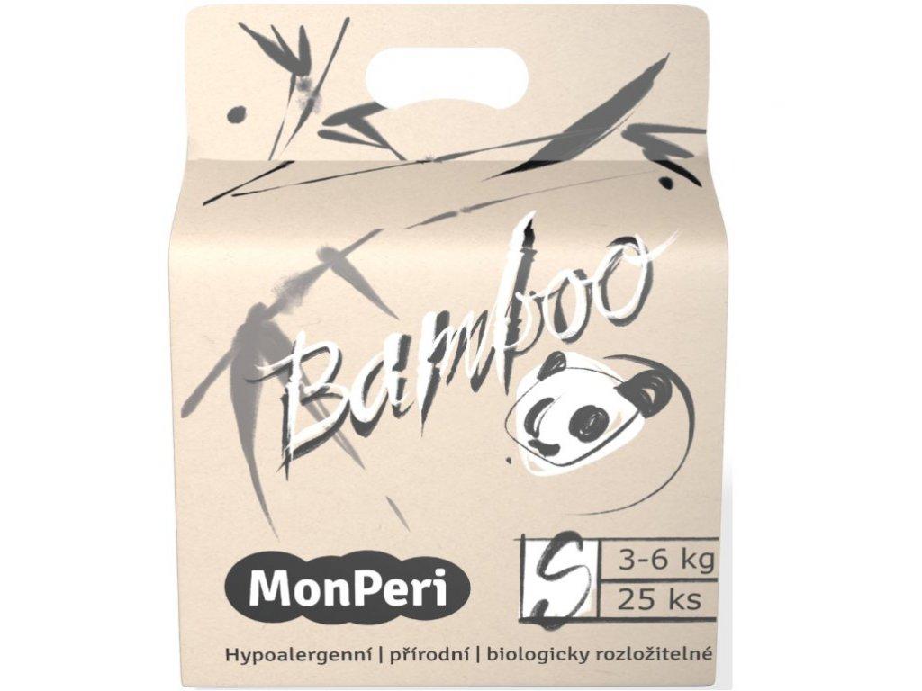 MonPeri Bamboo S 3 6 kg 25ks EKO dětské bambusové jednorázové plenky (velikost 2)