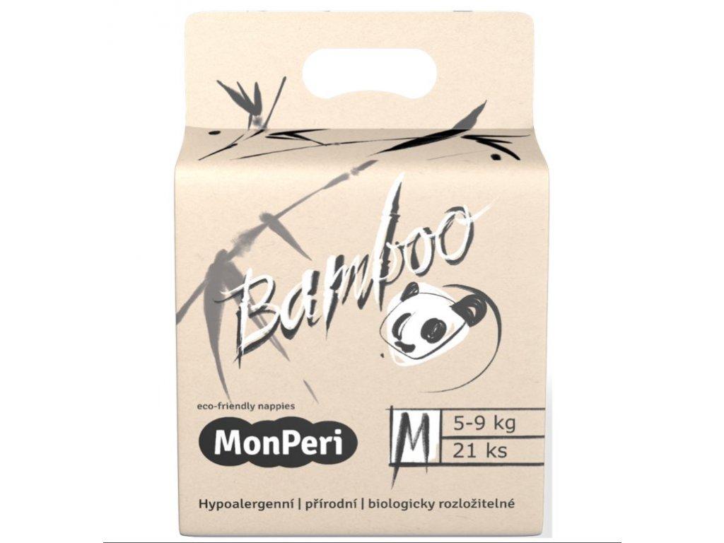 MonPeri Bamboo M 5 9 kg 21ks EKO dětské bambusové jednorázové plenky (velikost 3)