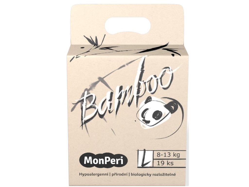 MonPeri Bamboo L 8 13 kg 19ks EKO dětské bambusové jednorázové plenky (velikost 4)