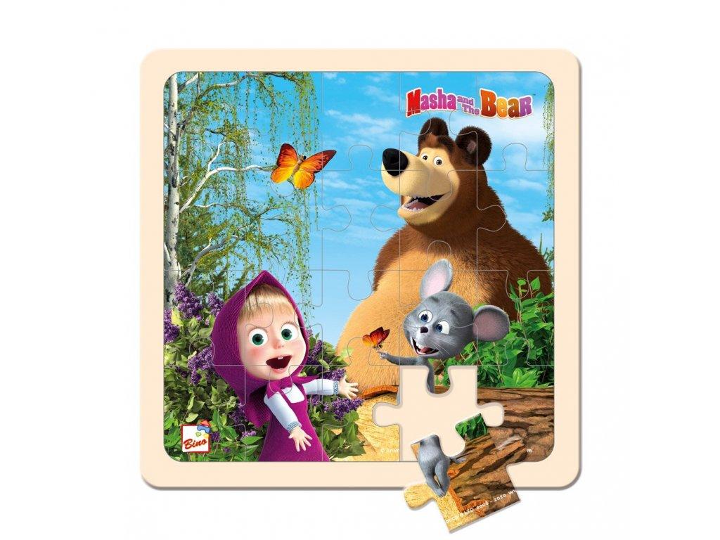 Máša a Medvěd puzzle 20x20cm