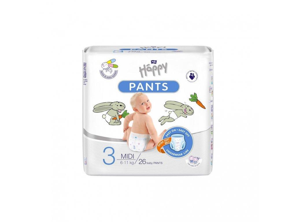 Bella Happy Pants 3 midi ( 6 11 kg ) 26 ks