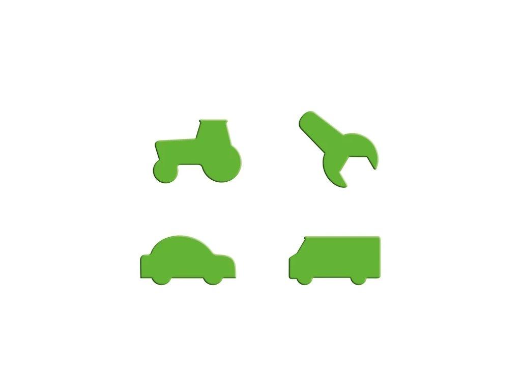 CARS BLESK BURÁK 12 deskové tvary Puzzle