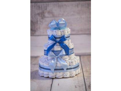 Plenkový dort třípatrový modrý