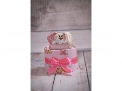 Plenkový dort jednopatrový červený