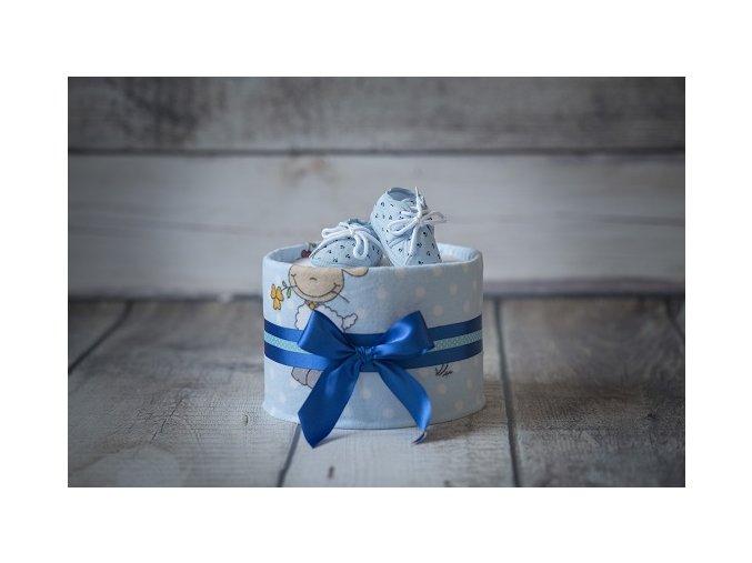 Plenkový dort jednopatrový modrý
