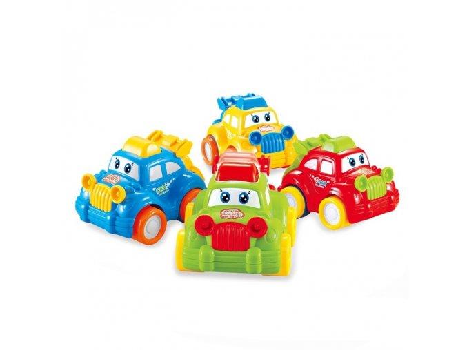 auto veselé v krabici s pohybem