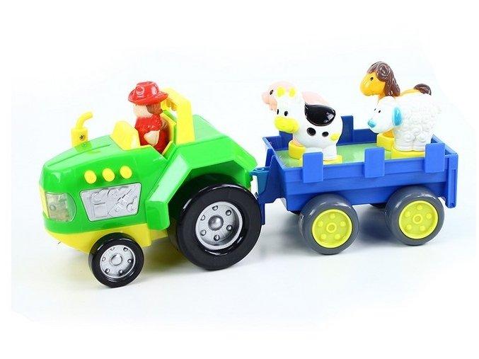 traktor s vlečkou se zvukem a světlem1