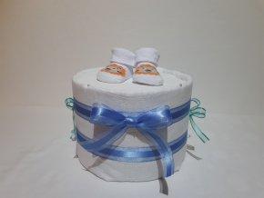Plenkový dort modrý s bohatou náplní