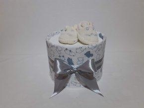 Plenkový dort jednopatrový šedý