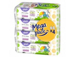 Vlhčené ubrousky Bella Baby Happy 4x64ks
