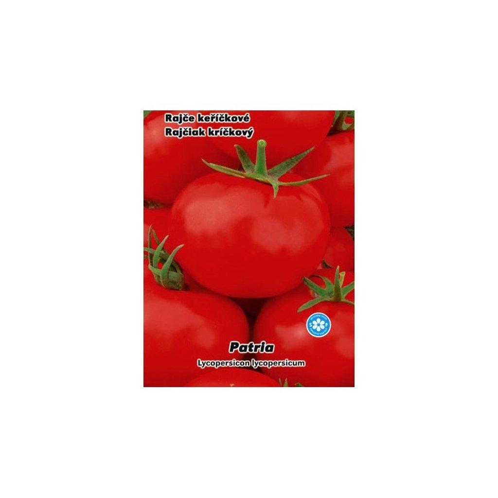 Rajče keříčkové červené Patria - semena rajčat 0,2 g, 70 ks