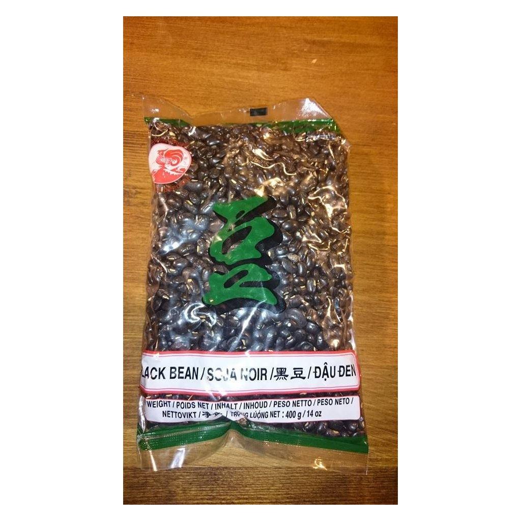 Černé sojové boby - černé fazole 400g