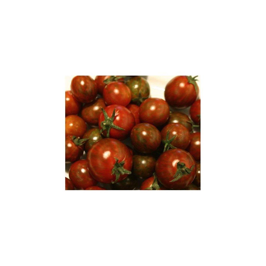 Rajče keříčkové černé Black Zebra Cherry - semena rajčat 10 ks