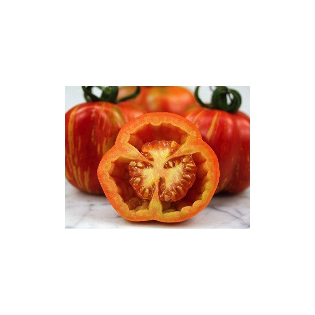 Rajče tyčkové žíhané Striped Stuffer - semena rajčat 10 ks
