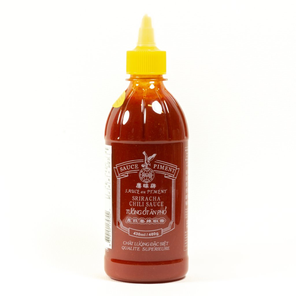 Sriracha žluté víčko