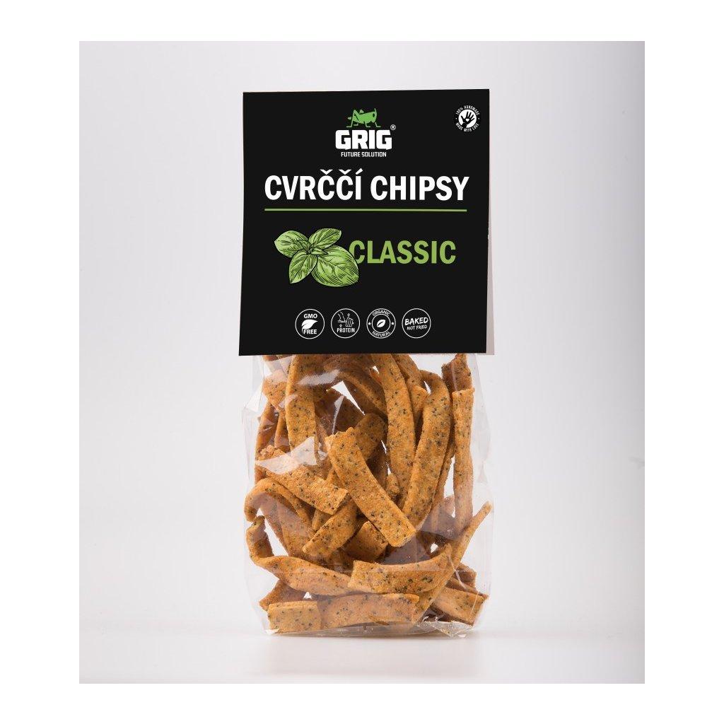Proteinové Cvrččí chipsy GRIG - classic 70g