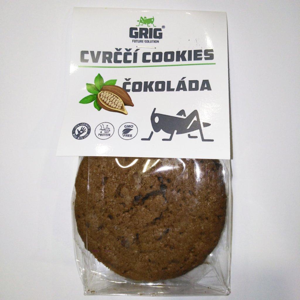 Cvrččí cookies GRIG - čokoláda 100g