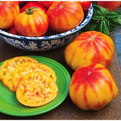 Rajče tyčkové oranžové Beefsteak Pineapple - semena rajčat 10 ks