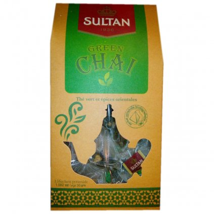 Sultan Green Chai - 15 sáčků