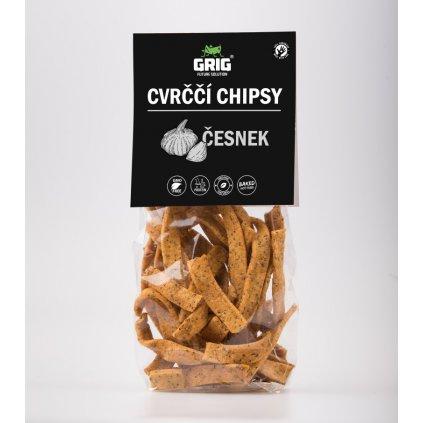 Proteinové Cvrččí chipsy GRIG - česnek 70g