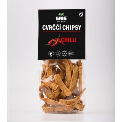Proteinové Cvrččí chipsy GRIG - chilli 70g