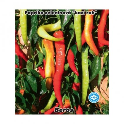 Paprika zeleninová Kozí roh - Beros - semena kozích rohů - 0,4 g, 50 ks