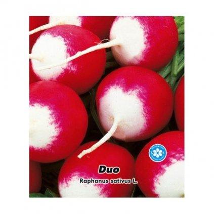 Ředkvička červenobílá kulatá - Duo - semena ředkvičky 4 g, 400 ks