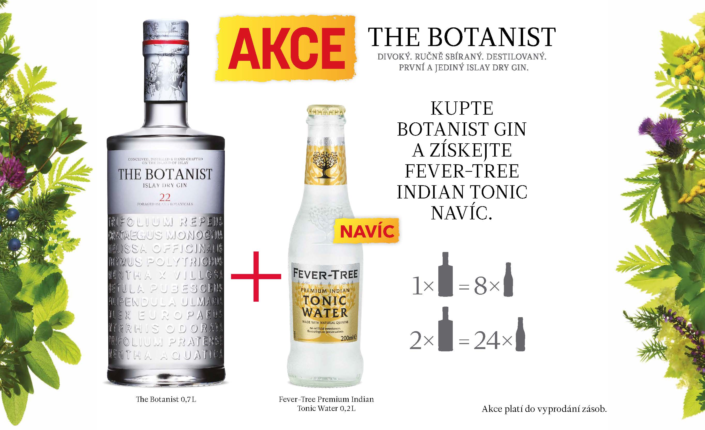 The Botanist + Fever Tree Tonic Zdarma