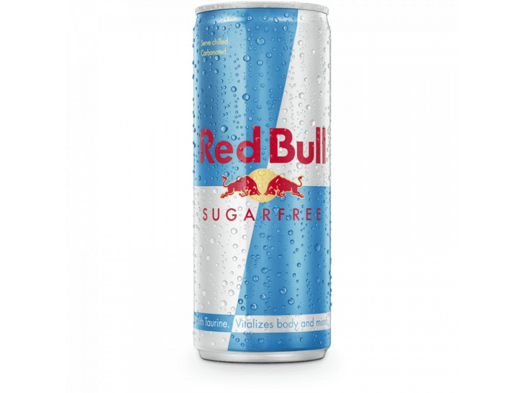 Red Bull Sugar Free plech 250ml