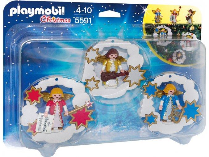 PLAYMOBIL® 5591 Vánoční dekorace s andílky  + dárek zdarma