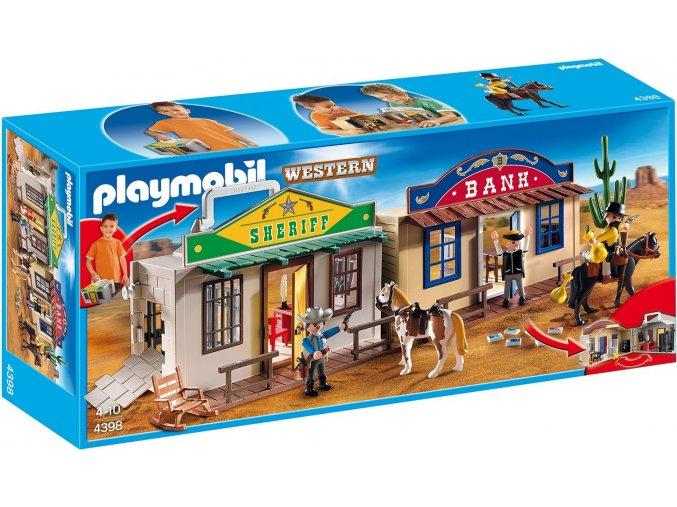 PLAYMOBIL® 4398 Přenosné westernové městečko  + dárek zdarma