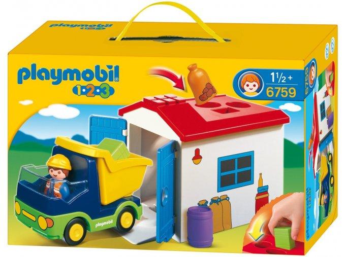PLAYMOBIL® 6759 Náklaďáček s garáží  + dárek zdarma