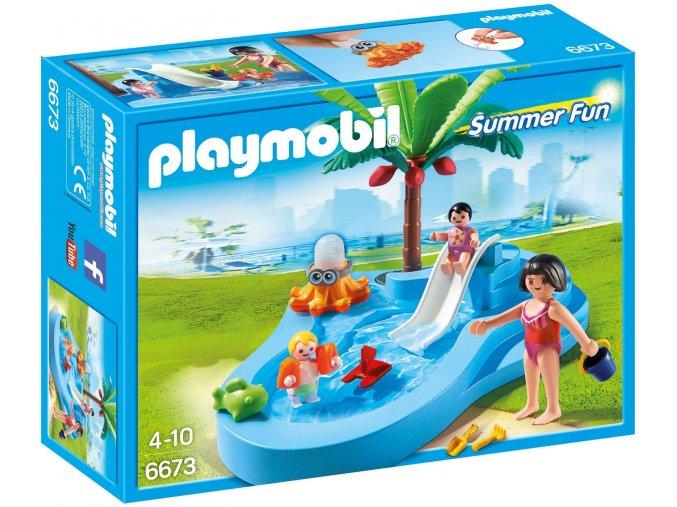 PLAYMOBIL® 6673 Dětský bazén se skluzavkou  + dárek zdarma