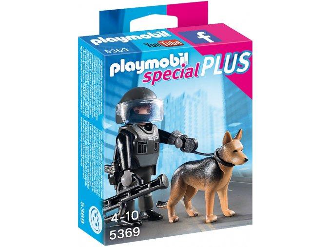 PLAYMOBIL® 5369 Policista se psem