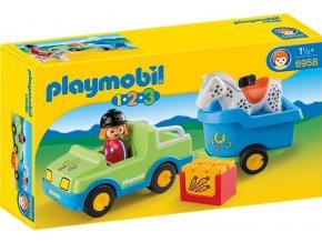 PLAYMOBIL® 6958 Auto s přívěsem pro koně  + dárek zdarma