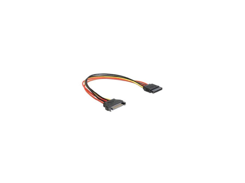 Kabel SATA prodloužení napájení, 30cm, CC-SATAMF-01