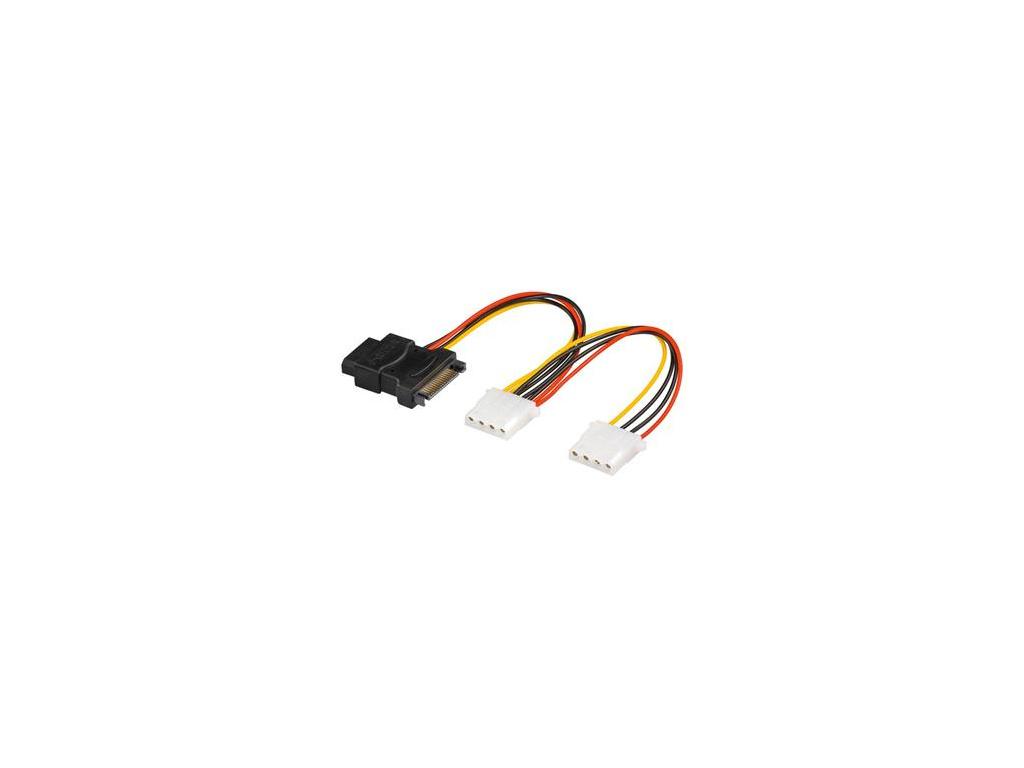 PremiumCord Napájecí Y kabel k HDD Serial ATA na 3x 5,25'' female 15cm