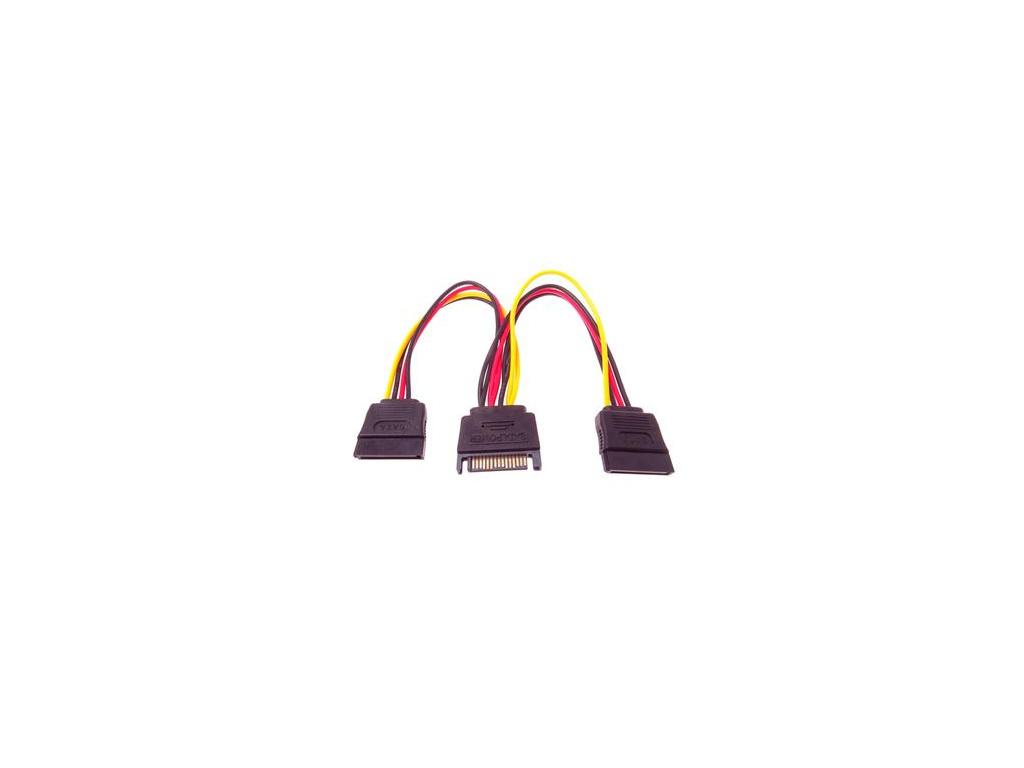 PremiumCord Napájecí rozdvojka k HDD SATA - 2x SATA, kfsa-21