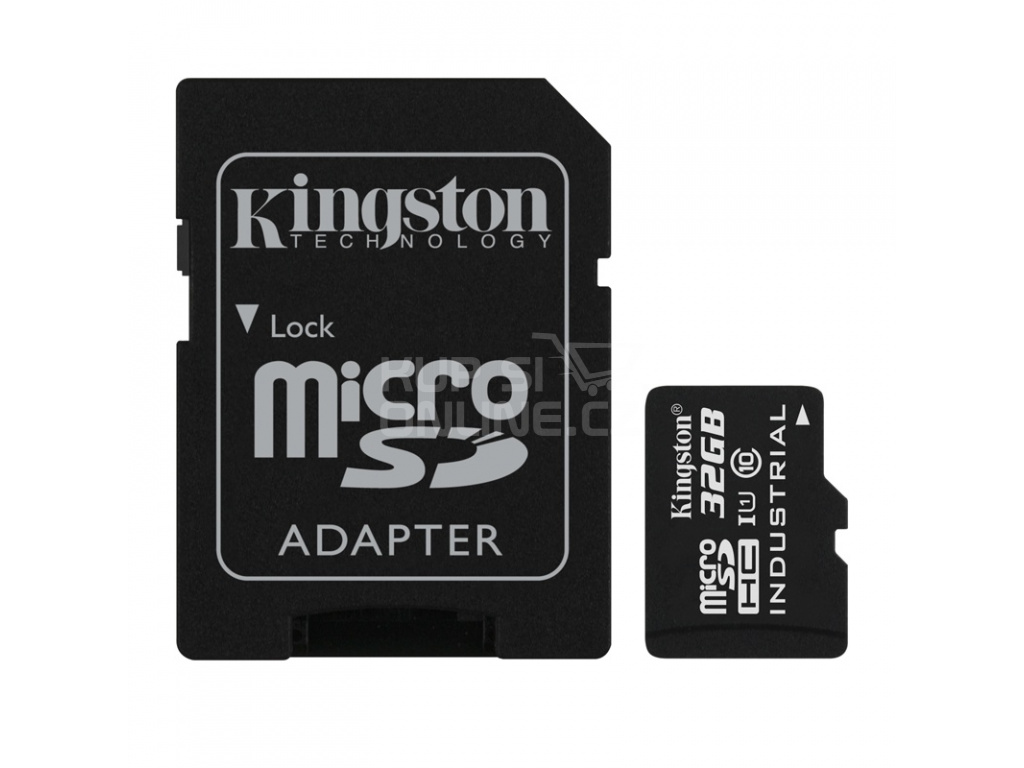 32GB microSDHC Kingston UHS-I Industrial Temp + SD adapter, SDCIT/32GB