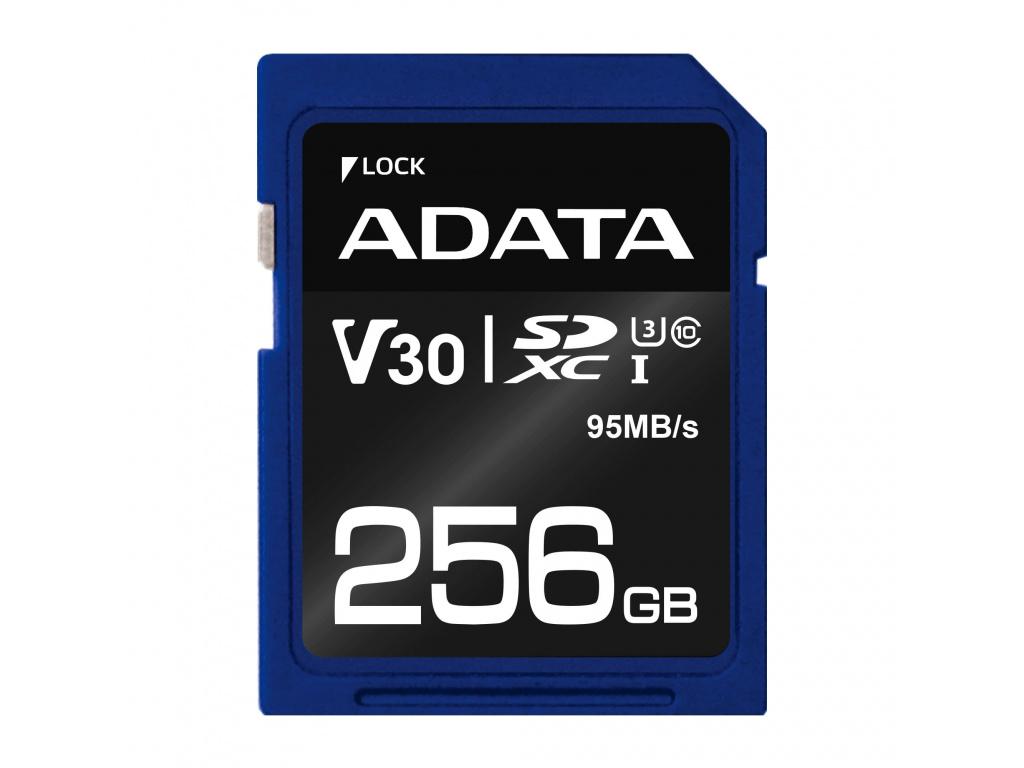 ADATA SDXC 256GB UHS-I U3 V30S 95/60MB/s, ASDX256GUI3V30S-R
