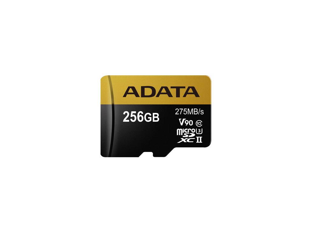 ADATA 256GB MicroSDXC UHS-II U3 s adapterem, AUSDX256GUII3CL10-CA1