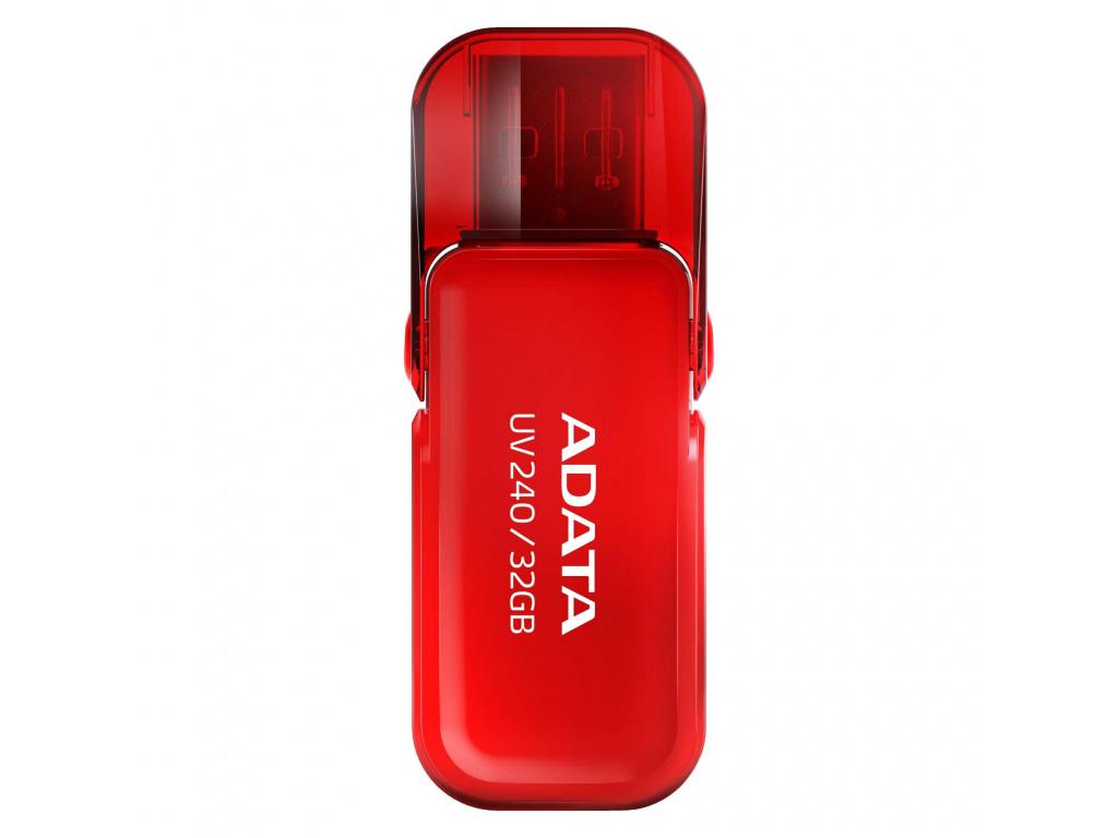 32GB ADATA UV240 USB red (vhodné pro potisk), AUV240-32G-RRD