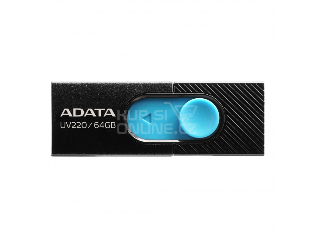32GB ADATA UV220 USB black/blue, AUV220-32G-RBKBL