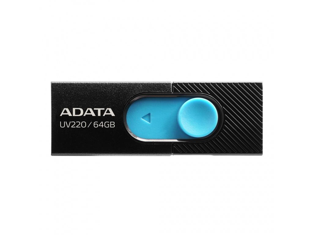 64GB ADATA UV220 USB black/blue, AUV220-64G-RBKBL