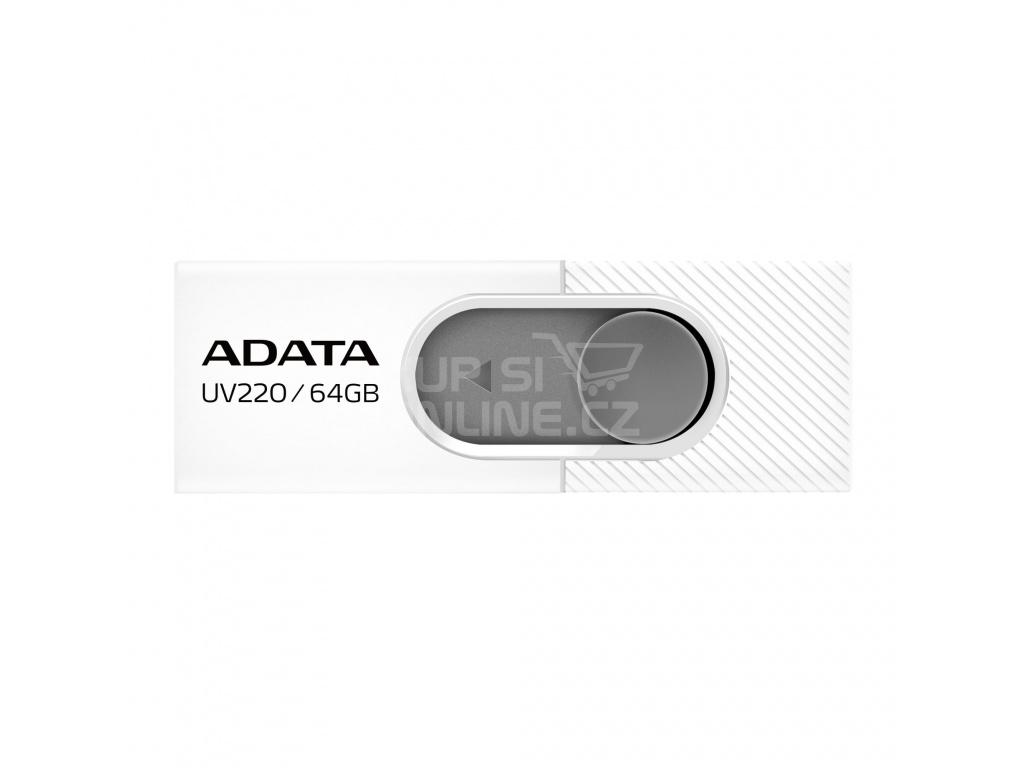 64GB ADATA UV220 USB white/gray, AUV220-64G-RWHGY