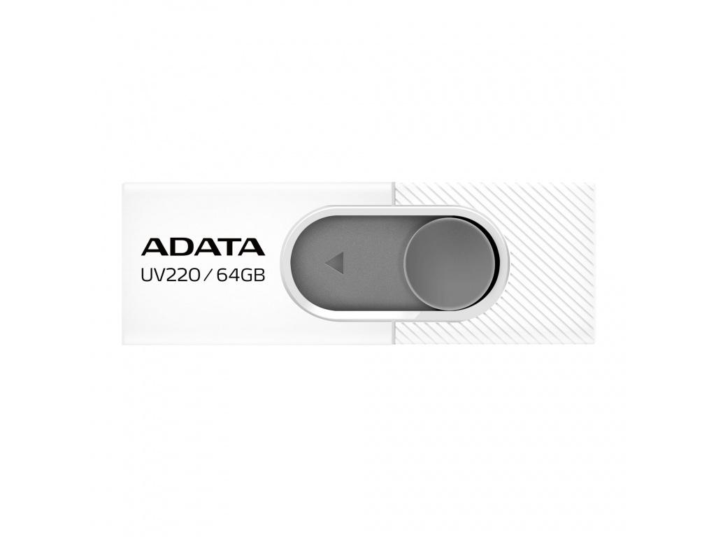 64GB ADATA UV220 USB white/gray, AUV220-64G-RWHGY