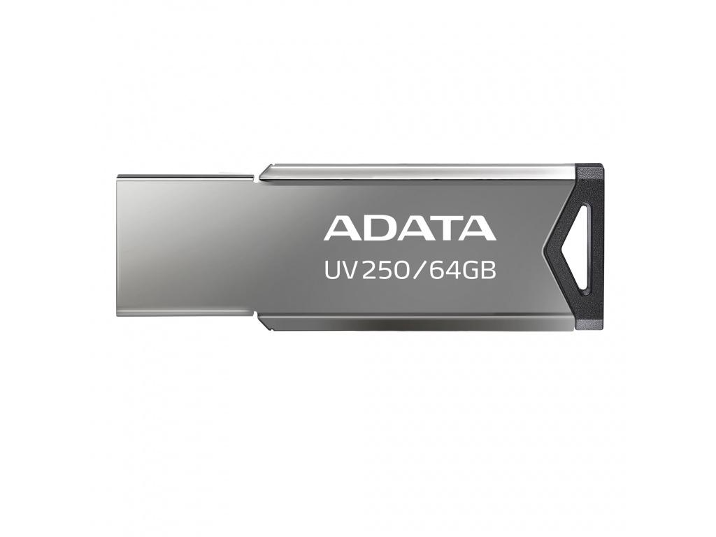 64GB ADATA UV250 USB 2.0 kovová, AUV250-64G-RBK
