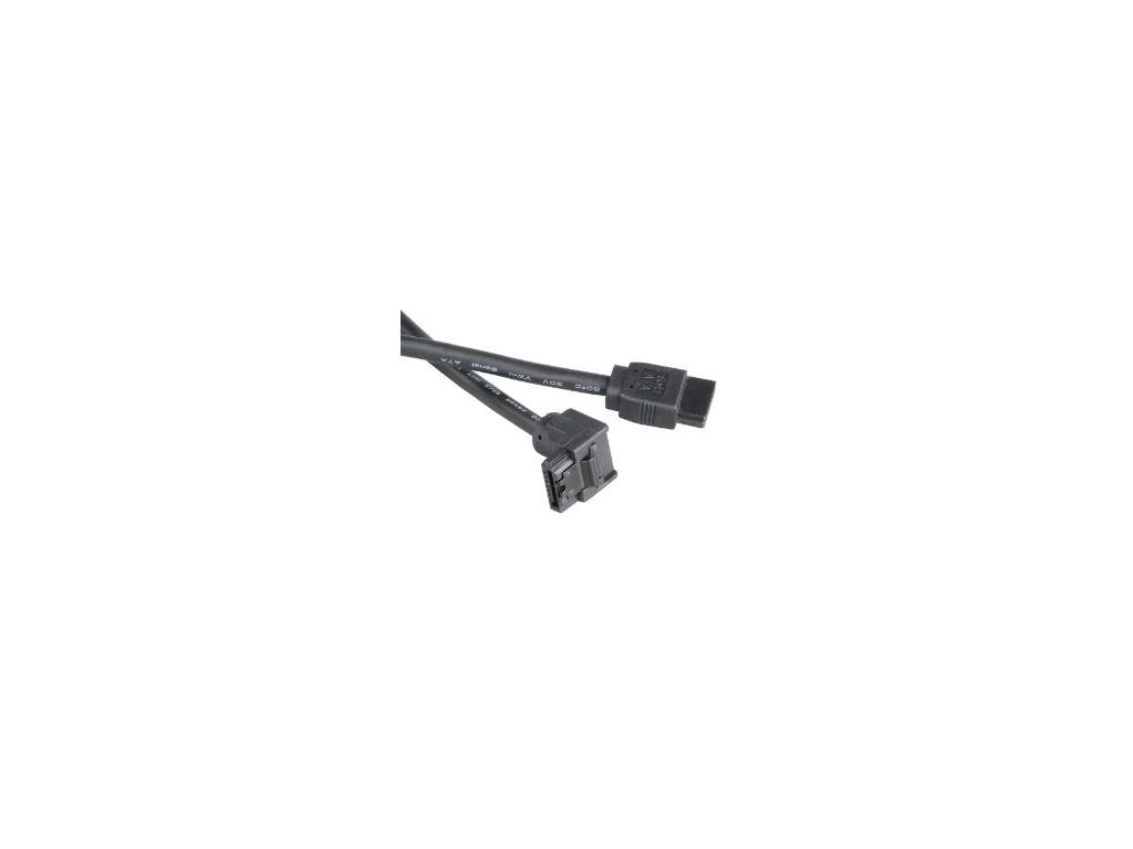 AKASA - černý 6Gb/s SATA3 kabel 90° - 50 cm, AK-CBSA01-05BK