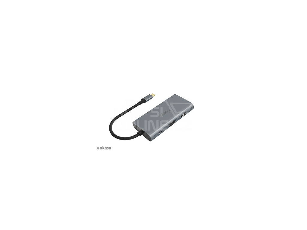 AKASA - externí USB hub - USB typ-C na 9-in-1, AK-CBCA21-18BK