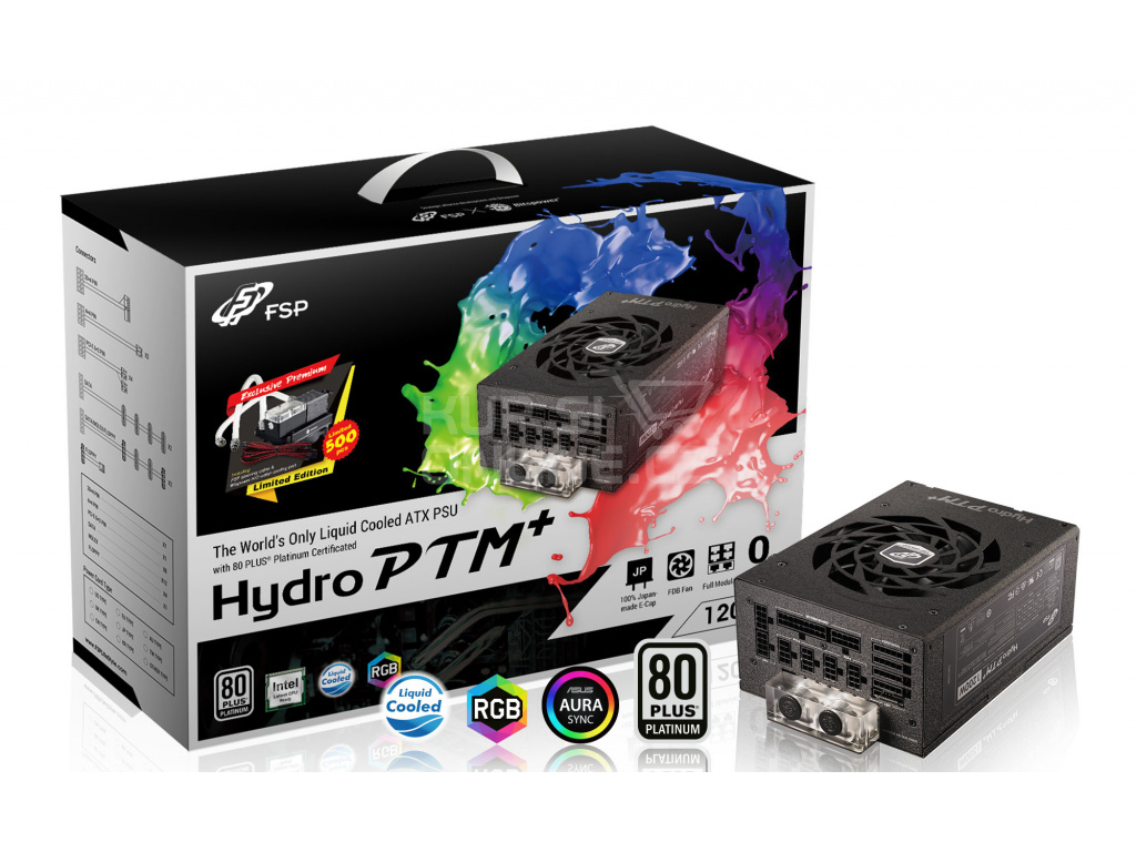 FSP/Fortron HYDRO PTM+ 1200W 80PLUS PLATINUM, modular, water cooling (+ LIMITED EDITION gifts), PPA12A0805